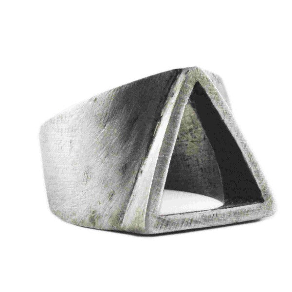Mens Triangle Ring Silver Rings