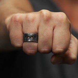 uncut black diamond mens wedding band