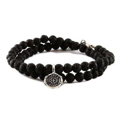 Carpe Diem Bracelet Sterling Silver Beaded Mens Jewelry