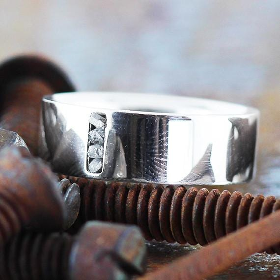 white gold man ring