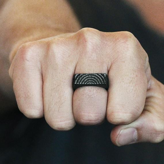 wood black ring