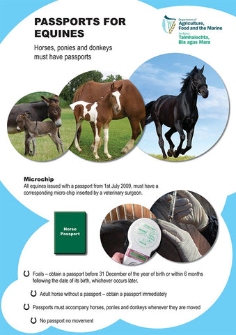 Microchip & Passport information for horses and donkeys, from the Department of Agriculture