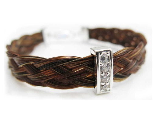 Gemosi Harmony Horse Hair Bracelet with Narrow Sparkler