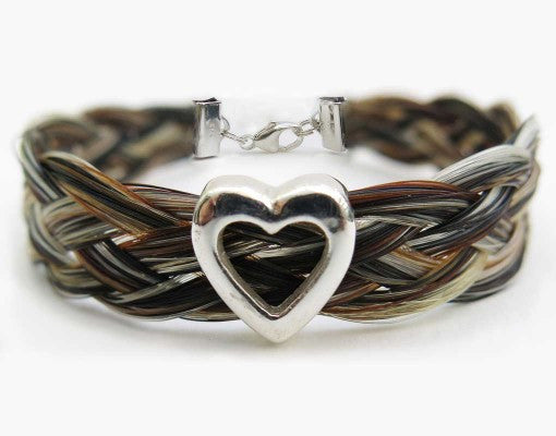 Gemosi Harmony Horse Hair Bracelet with Sterling Silver Heart