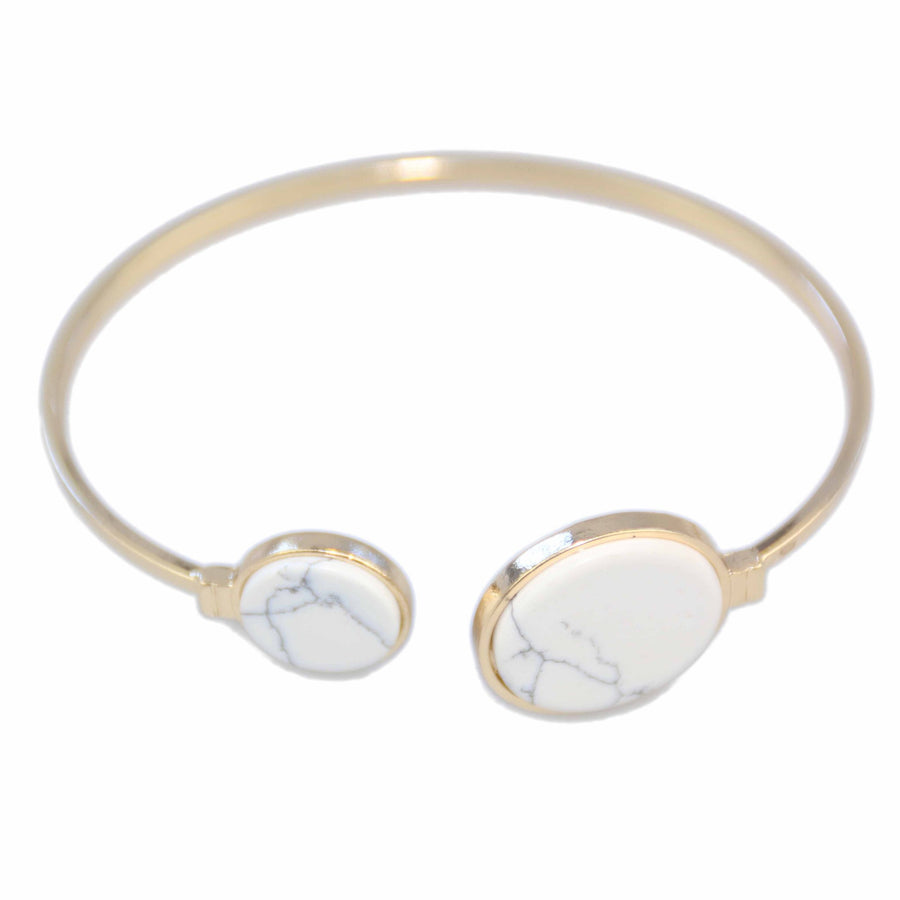 witte marmeren armband