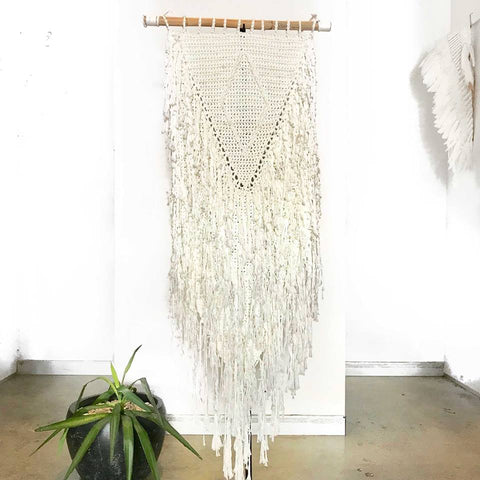 EXTRA LARGE Macrame Hanging White
