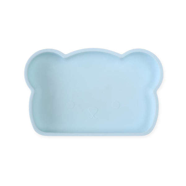 Bear Silicone Plate - Blue