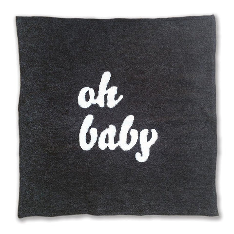 'Oh Baby' Knitted Blanket