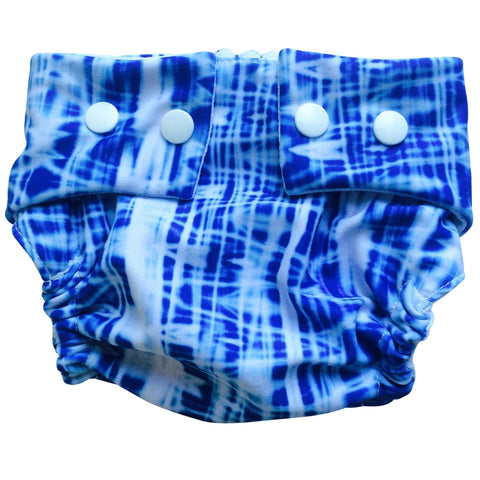 Batik Blue Swim Nappy