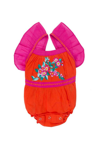 Camille Sunsuit Paprika With Hand Stitch