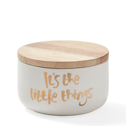 'It's The Little Things' Canister