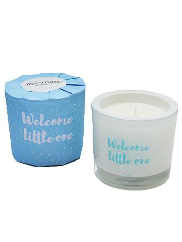 Welcome Little One - Blue Candle