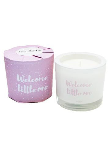 Welcome Little One - Pink Candle