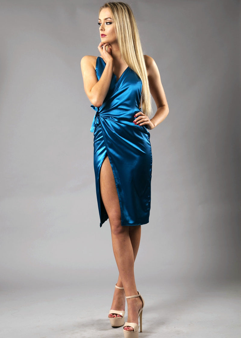 Scarlett Low Back Dress - Royal Blue XS S