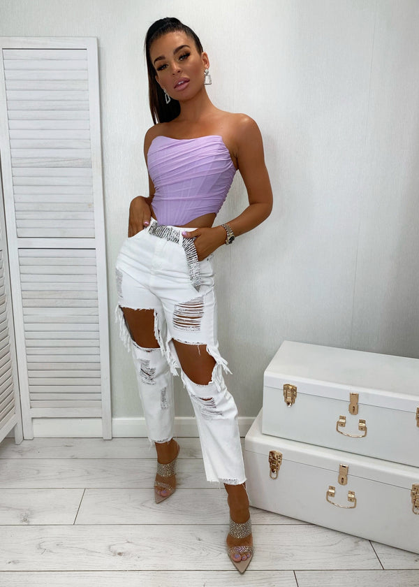 Angel Gone Bad Ripped Jeans - White