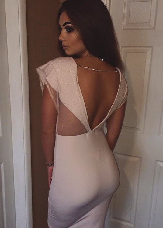 Cindy Bodycon Dress with Mesh Detail