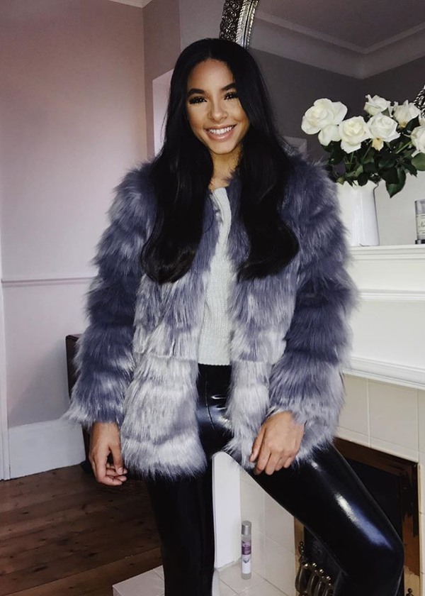 Faux Fur Coat - Grey 14