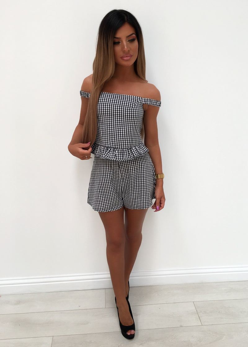 Checked Two Piece Playsuit