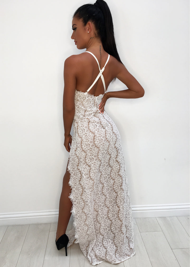 Trinity Lace Dress - White