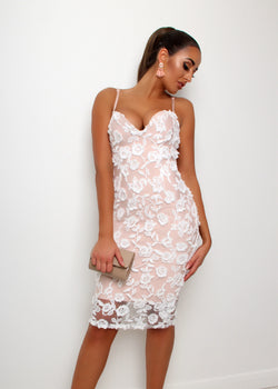 Ever So Classy Lace Bandage Dress - White