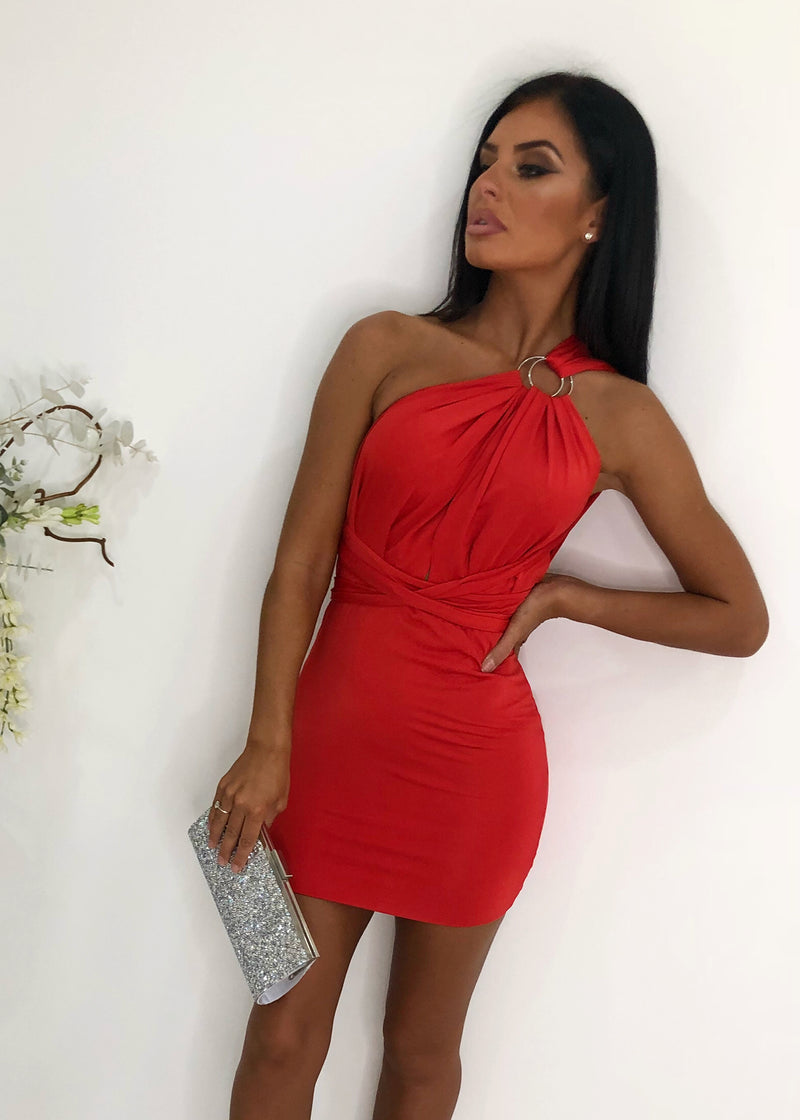 Up the Smoke Multiway Dress- Red