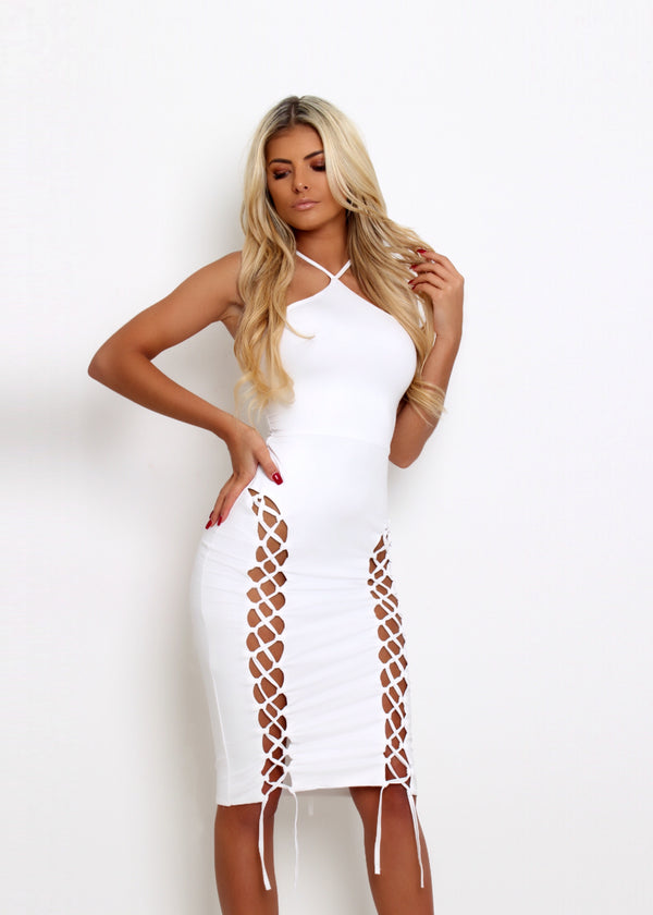 'Sweet Lace' Bodycon Dress - White