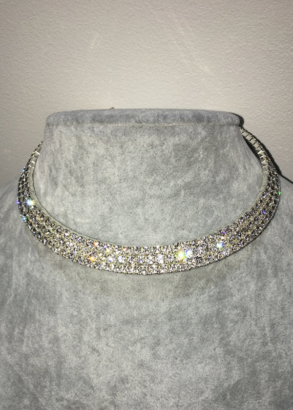 Crystal Choker - Three Row