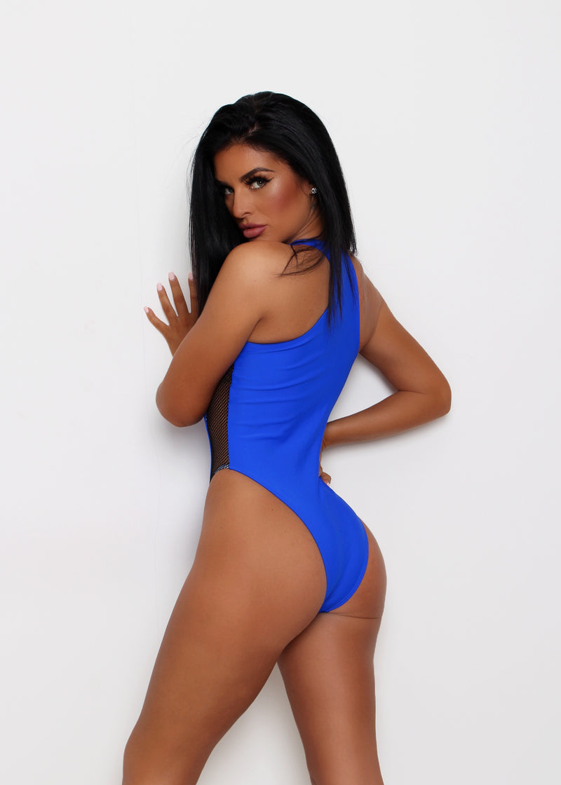 Deep End One Piece Swimsuit - Cobalt Blue