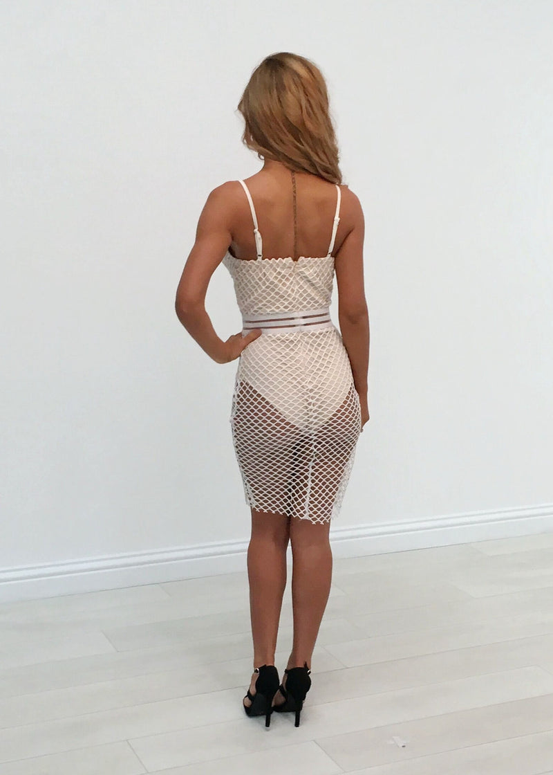 SALE - Brooke Fish Net Bodycon Dress