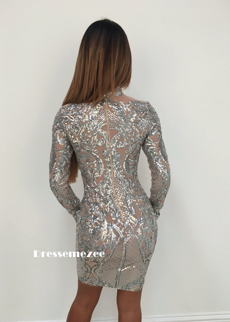 'Stargazing' Sequin Dress - Silver