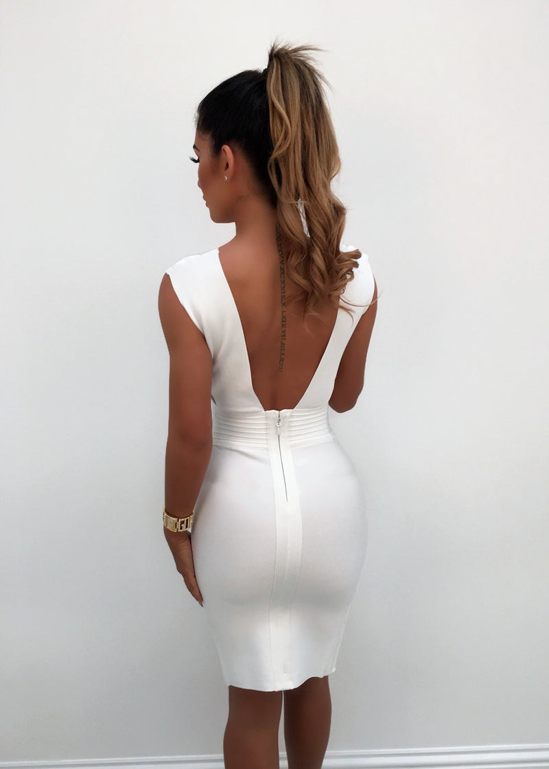 'Lady Luxe' Bandage Dress - White
