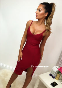 Florida Bandage Dress - Burgundy