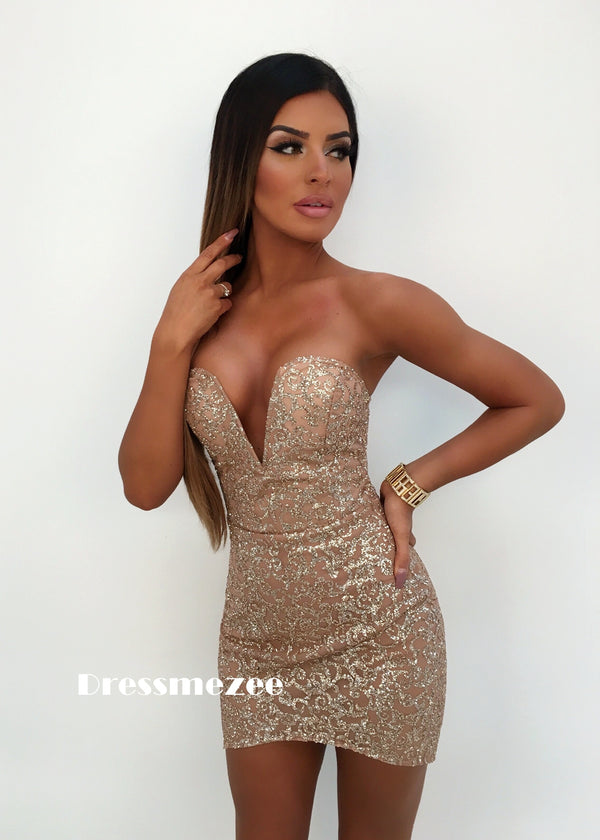 'Dipped in Glitter' Bustier Dress