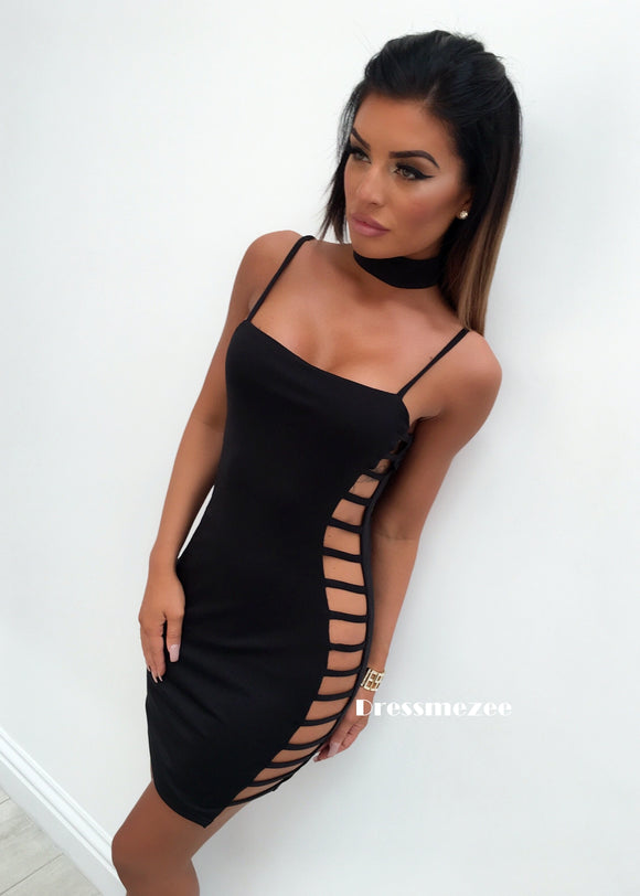'Too Hot to Handle' Bodycon Dress - Black