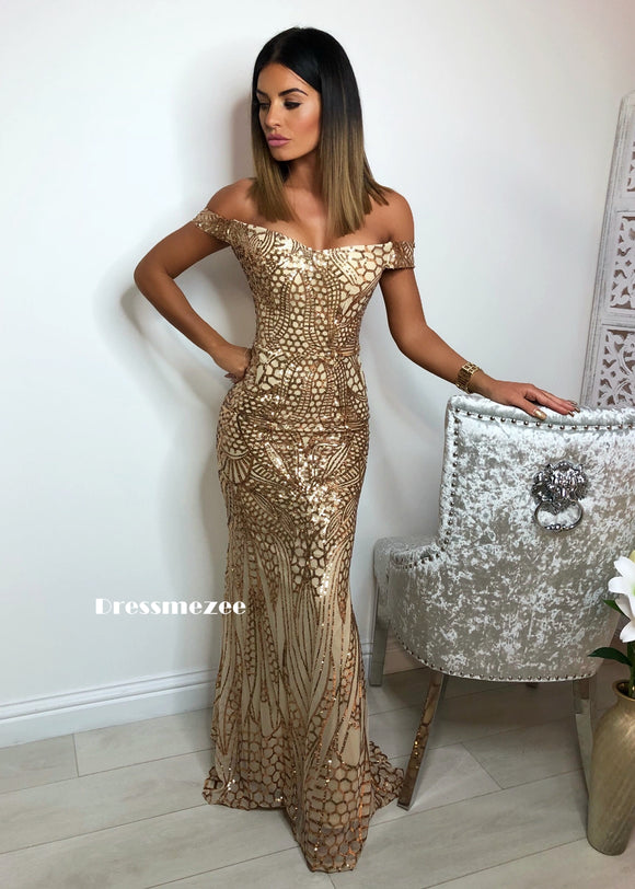'Glam Slam' Maxi Dress - Gold