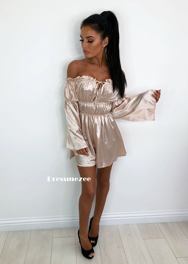 'Feeling Summer' Playsuit - Nude S M XL