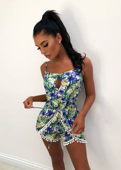 'Jungle Babe' Print Playsuit