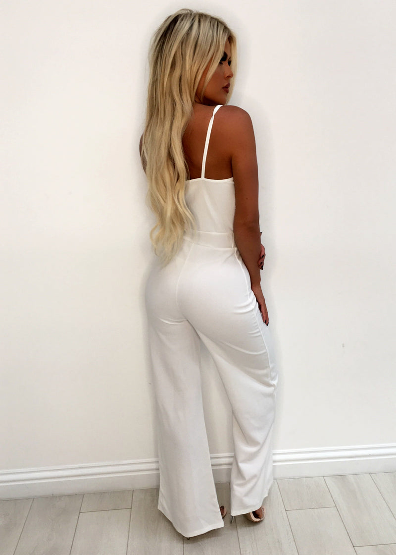 'Be The One' Lace Jumpsuit - White