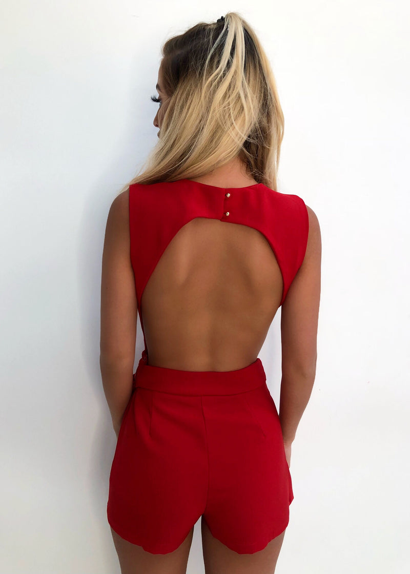 'Nothing But You' Playsuit - Red