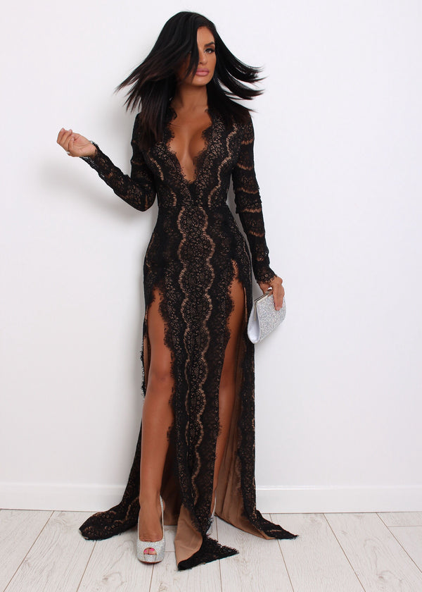 No Ordinary Lace Dress - Black