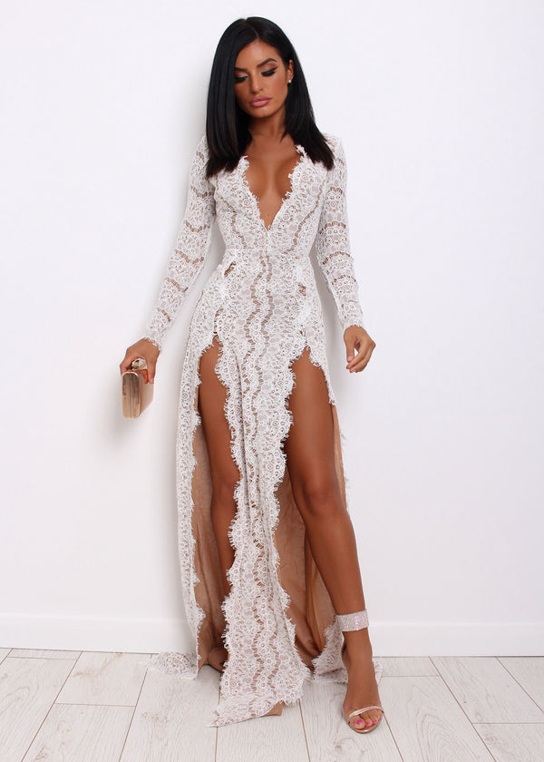 No Ordinary Lace Dress - White