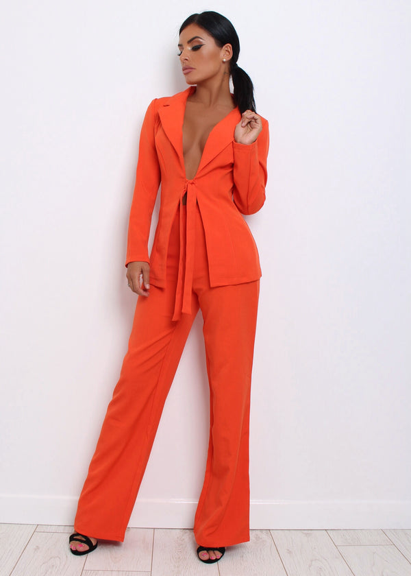 Zendaya Two Piece - Orange