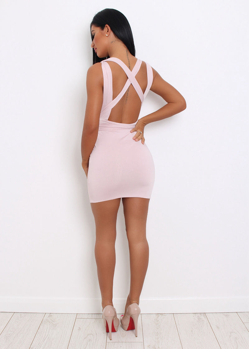 Up the Smoke Multiway Dress- Blush