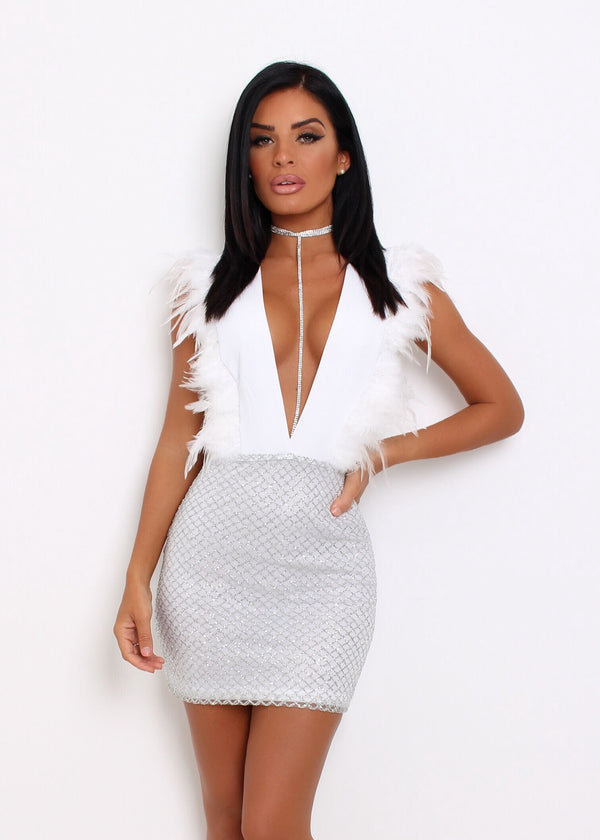 Light As A Feather Dress - White