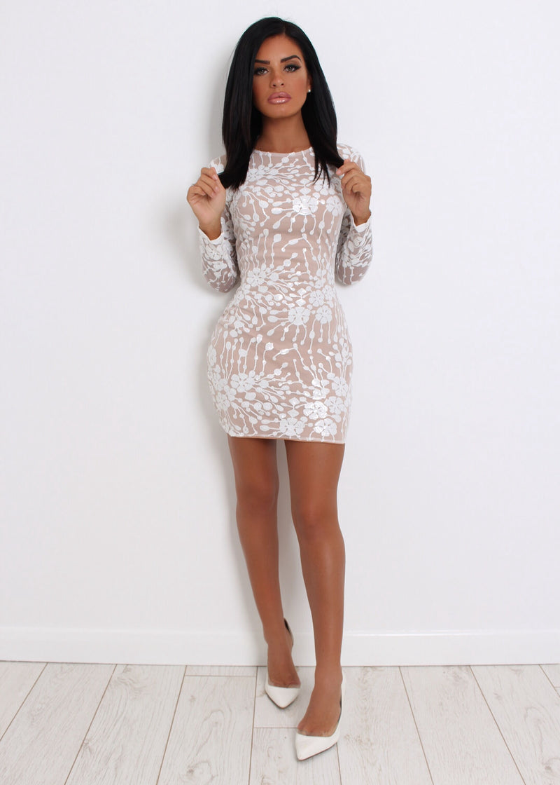 Nobody But You Sequin Mesh Dress