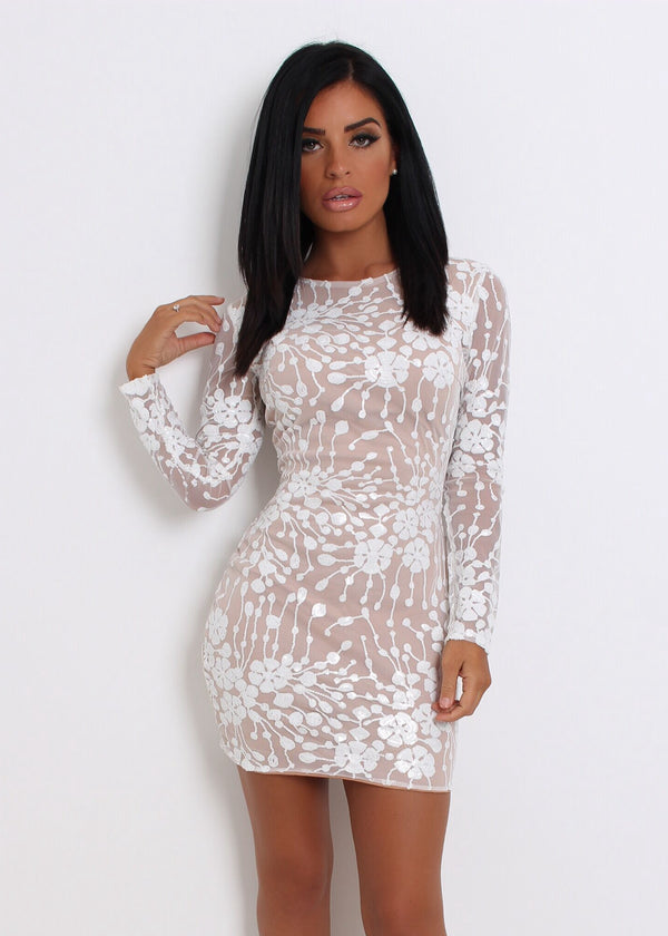 Nobody But You Sequin Mesh Dress XL