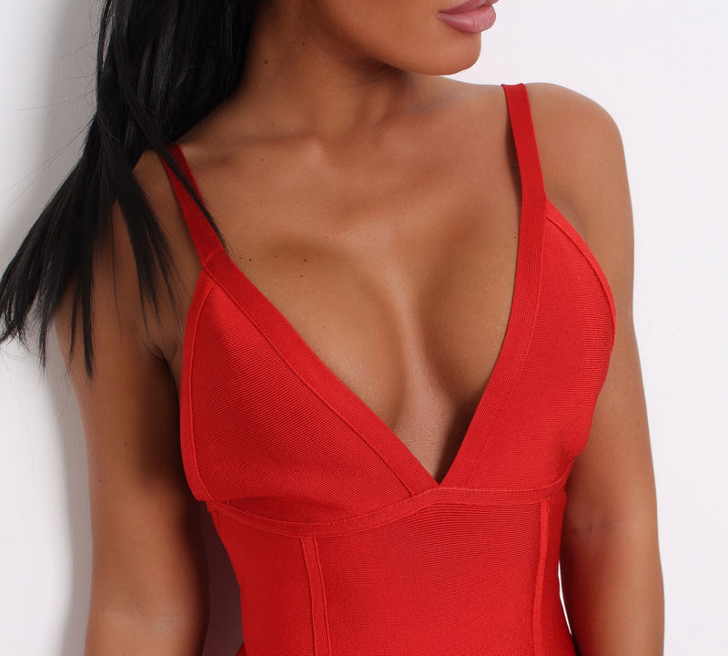 'Something About You' Bandage Dress  - Red