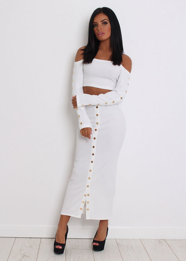 Cosmo Girl Two Piece - White S M