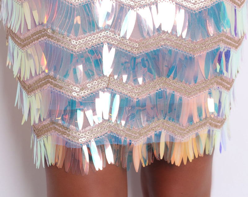 'Pour The Bubbly' Holographic Sequin Dress