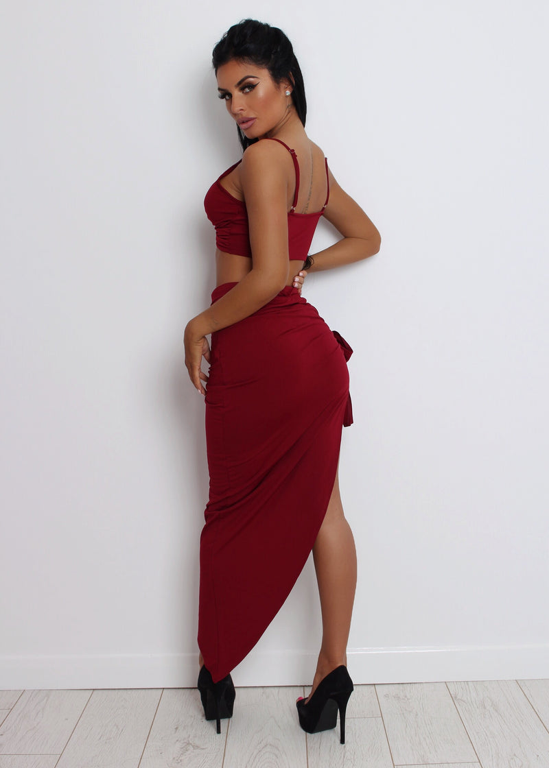 'Love On The Side' Two Piece - Wine